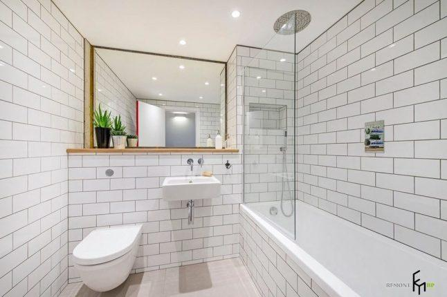 Отделка небольшой ванной комнаты