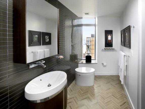 Использование тёмных тонов в дизайне ванной комнаты