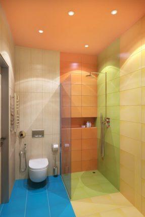 Ванная комната в ярких тонах