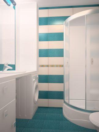 Маленькая ванная в стиле минимализма