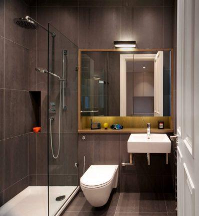 Компактное оборудование в маленькой ванной комнате