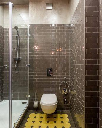 Современная ванная комната с душевой кабиной