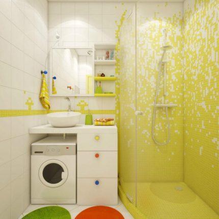 Компактное размещение оборудования в современной ванной комнате