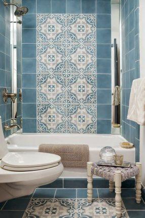Восточные мотивы в дизайне маленькой ванной комнаты