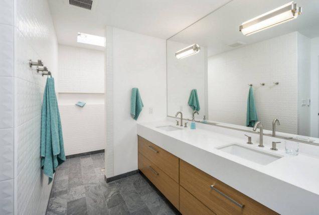 Фото объёмной плитки в оформлении ванной комнаты