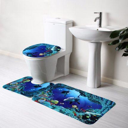 Яркие аксессуары для туалета