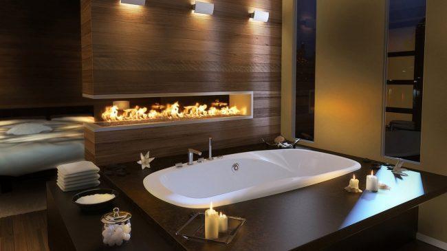 освещение в большой ванной комнате