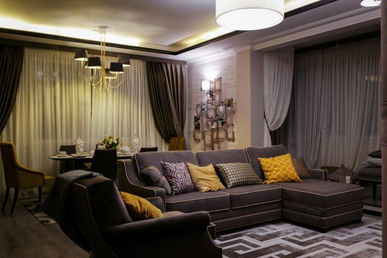 Квартира Юлии Барановской в стиле арт-деко