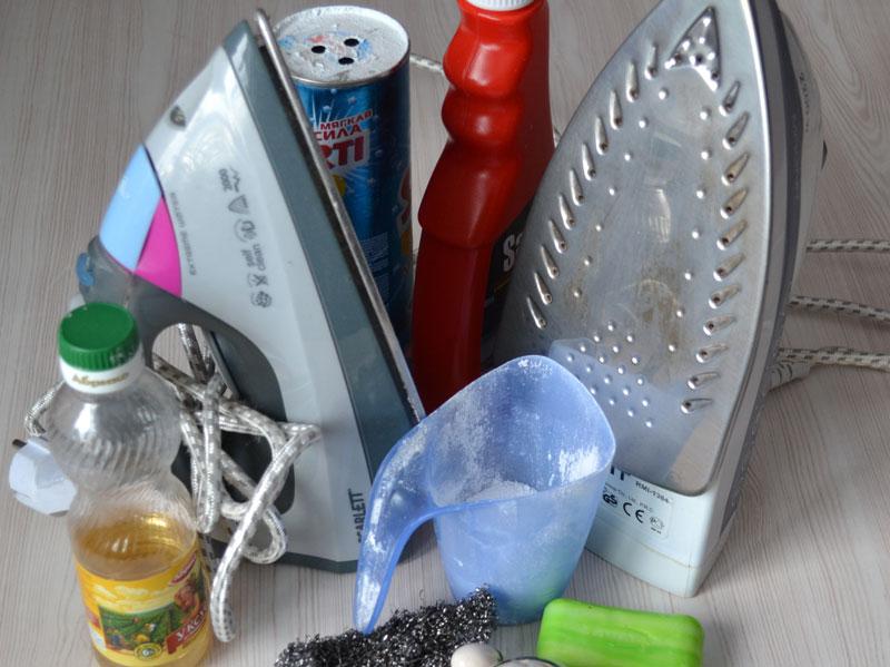 Как почистить покрытие утюга, все самые простые и эффективные способы