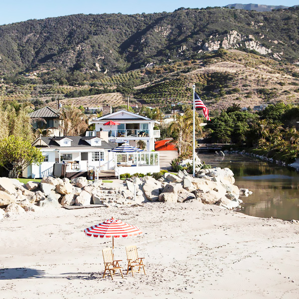 Летняя резиденция Милы Кунис и Эштона Катчера в Санта-Барбаре