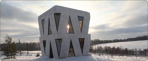 Оригинальный кубический дом Юлии Чичериной