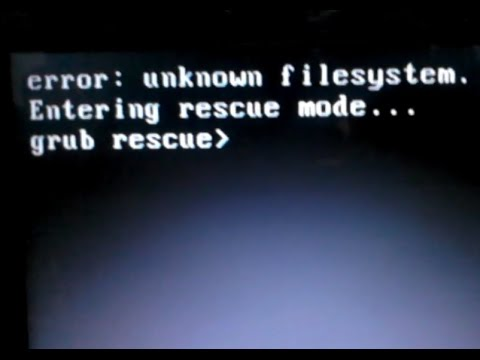 Booting from hard disk error, entering rescue mode