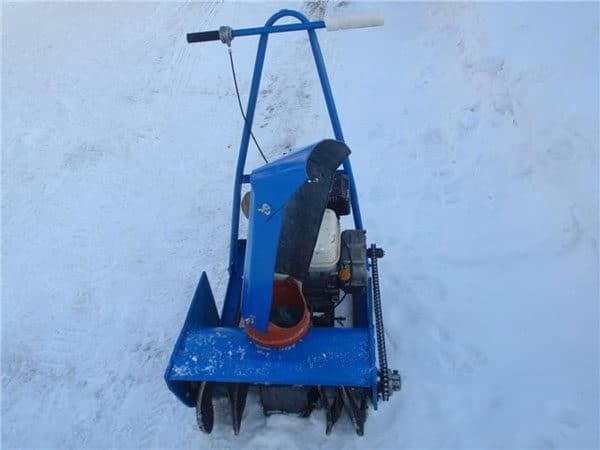 как сделать из косилки снегоуборщик